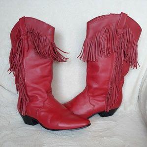 Dingo Red Cowboy Boots w/ Fringe (Jessie-Toy Story